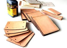 money clip natural tan leather billfold wallet for mens