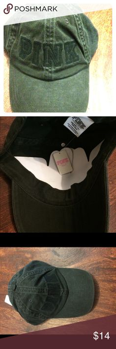 Victoria secret pink! Gray and black baseball cap Brand new never worn super cute I️ actually have three and in this exact same color or else I also would have kept it for myself. Great to go out in and at any age! Comfortable and adjustable. Fashionable in any weather and also good for blocking sun off of your face PINK Victoria's Secret Accessories Hats