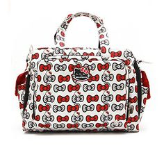 Ju Ju Be Be Prepared Hello Kitty Peek A Bow Baby Diaper Bag w/Changing Pad //Price: $ & FREE Shipping // World of Hello Kitty https://worldofhellokitty.com/product/ju-ju-be-be-prepared-hello-kitty-peek-a-bow-baby-diaper-bag-wchanging-pad/    #giftshop