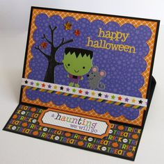 Snippets By Mendi: Doodlebug Ghouls & Goodies Halloween Themed Easel Card