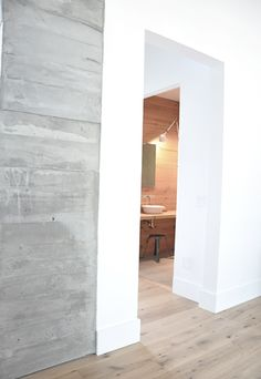 Finishes: like the floors, baseboards, and concrete wall