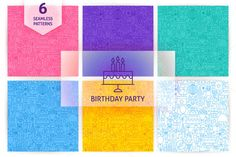Birthday Party Line Seamless Pattern - Patterns