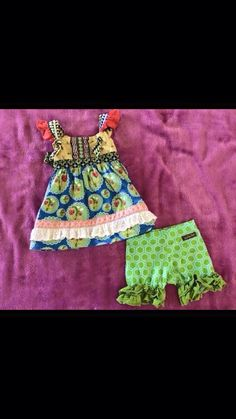 Love bug knot top and Puzzle shorties
