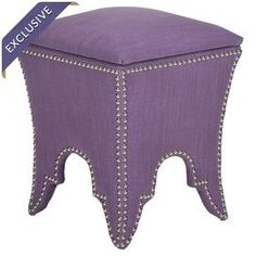 Deidra Storage Ottoman available in Lavender, Beige, Black, Bordeaux, Silver Sage, Chartreuse, Taupe, Berry or Champagne.