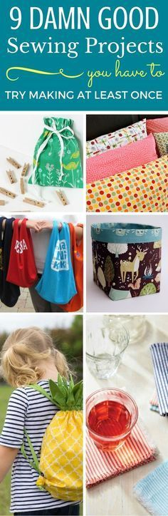 9 Easy Sewing Projects For Beginners - The best sewing tutorials that shows you how to make great things for your home. These sewing projects are easy to follow and are great enough to even sell. DIY Projects For The Home, Easy DIY Projects