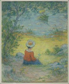 """""""Rêverie au bord de l'eau"""" d'Emile Schuffenecker (1851-1934). Saint-Germain-en-Laye, musée Maurice Denis - Le Prieuré - Photo (C) RMN-Grand Palais / Benoît Touchard"""