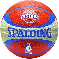 Spalding NBA Detroit Pistons Team Color And Logo Basketball 6 Pieces ** Continue to the product at the image link.