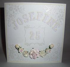 Födelsedagskort i vitt