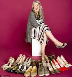 """luv her to bits - professor Mary Beard on her shoe addiction - yes! - """"No one sneers at you because you can't quite fit into a shoe size five-and-a-half"""""""