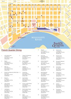 New Orleans Map Of French Quarter