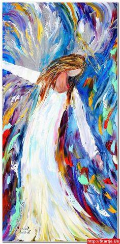 Acrylic Angel Paintings 13; Acrylic Angel Paintings 12