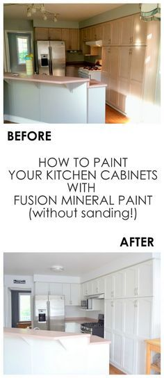 Kitchen makeover using Fusion Mineral Paint in Casement -