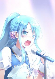 Hatsune Miku and her microphone Vocaloid Kawaii Anime, Anime Oc, Female Anime, Kawaii Girl, Manga Anime, Hatsune Miku, Kaito, Asuna, Manga Font