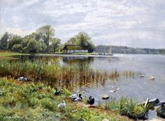 Peder Mørk Mønsted - Ducks by a Pond (Anatre in uno stagno, 1937)