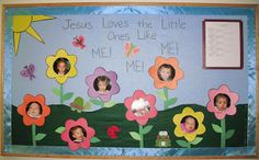 summer bulletin board ideas for church | this was created for a church nursery but it could be used for any