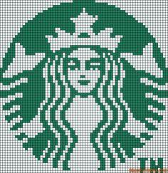 Cross stitch/hama/perler - Starbucks coffee logo