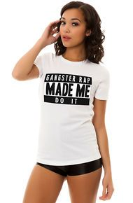 Local Celebrity x PLNDR The Gangster Rap Tee in White