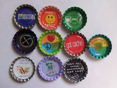 10 Geocaching Bottle Caps Geocaching Swag by CoolGeocachingSwag