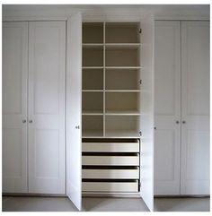 Bedroom Built In Wardrobe, Fitted Bedroom Furniture, Bedroom Closet Doors, Closet Built Ins, Diy Wardrobe, Wardrobe Storage, Closet Storage, Bedroom Storage, Diy Storage