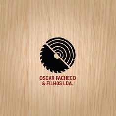 Circular Saw, Tree Rings, Wood Logo
