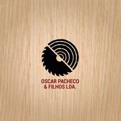 Circular Saw, Tree Rings, Wood Logo