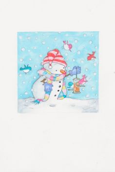 Annabel Spenceley - snowman and birds.jpeg