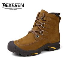 US $58.69 DEKESEN 2016 Men Boots for Russian, First Layer Cow Leather Shoes Man, winter Snow Ankle boots, Safety boots Men Plus size 6-12. Aliexpress product