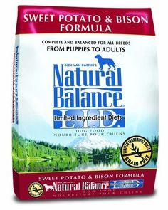 Natural Balance LID Sweet Potato & Bison Formula Grain Free Dry Dog Food 13lbs