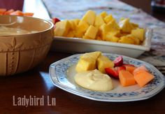 Healthy + Delicious + 3 ingredients = Amazing Fruit DIP!