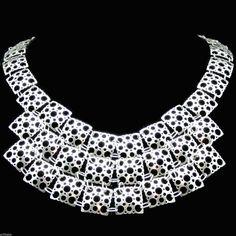"#forsale > Liisa Vitali for Nestor Westerback/Kultakeskus (FI), stunning sterling silver bib necklace, from the artist's ""Pitsi"" (Lace) series, 1970s. #finland | finlandjewelry.com"