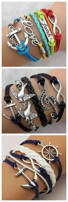 I love bracelets with words on them!