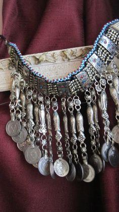 Tribal Kuchi Gypsy Fish Necklace by ForgottenPast on Etsy
