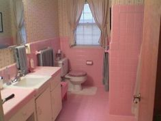 Cottage by the Sea: Pink Bathrooms