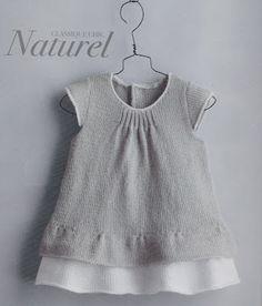 Pontos e Apontamentos...: Vestido bebé com folho duplo - PHILDAR