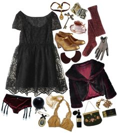 """""""dark doll"""" by honeydrip ❤ liked on Polyvore"""