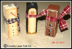 We Three Blockheads Ornament Pattern