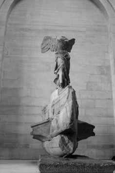 "My favourite - ""Winged Victory of Samothrace""- The Louvre, Paris Winged Victory Of Samothrace, Culture Shock, Greek Art, Human Art, Art For Art Sake, Victoria, Ancient Art, Pet Portraits, Lovers Art"