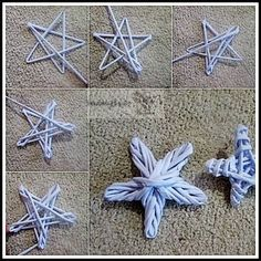 Best origami paso a paso estrellas Ideas Ramadan Crafts, Christmas Projects, Diy And Crafts, Christmas Crafts, Handmade Ornaments, Xmas Ornaments, Origami And Kirigami, Basket Crafts, Paper Weaving