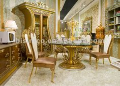 Luxury home dining table set,european classical dining table and chair,wooden hand carved with brass/bronze(B50930), View dining table set, ...