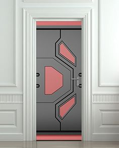 "Door STICKER futuristic gate hi-tech star trek mural decole film self-adhesive poster 30x79""(77x200 cm) Pulaton http://www.amazon.com/dp/B00PWVN78Y/ref=cm_sw_r_pi_dp_4UKBub19ZFWKY"