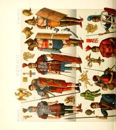 University Of Pittsburgh, German Language, Historical Costume, Paper Dolls, Character Inspiration, Costumes, Illustration, Armour, Romans