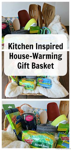 Welcome your family & friends to their new home with a kitchen inspired gift basket full of these great items. #AD #ExperienceSrubDots #GiftBasket