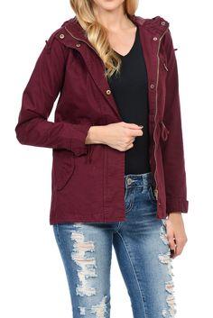 Womens Versatile Military Safari Utility Anorak Street Fashion Hoodie Jacket #AulinCollection #Military #Casual