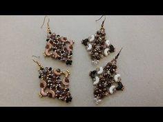 Occorrente: perle sfaccettate (cipollotti) da 6 mm e 3 mm rocailles 11/0 bicono 4 mm perline arcos par puca FACEBOOK PAGE CREATIONS: https://www.facebook.com...