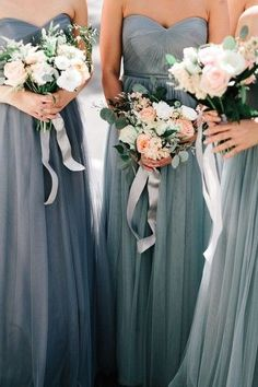 mismatched bridesmaid dresses you must try, classic blue wedding colors, spring and summer weddings Trendy Wedding, Elegant Wedding, Dream Wedding, Wedding Day, Wedding Hacks, Diy Wedding, Ribbon Wedding, Indoor Wedding, Autumn Wedding
