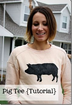 Make your favorite animal into a fun graphic tee with this tutorial from www.onelittlemomma.com
