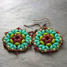 Bead Pattern Bead Weaving Tutorial Lotus Super Duo Earrings