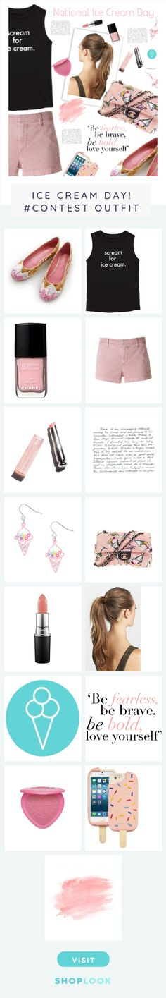Ice Cream day created on ShopLook.io featuring , , , J Brand, , , , , , , , , , ,  perfect for Ice Cream Day! #Contest.
