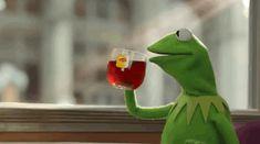 Gif Kermit The Frog Drinking Tea Kermit The Frog Gif, Kermit Gif, Funny Kermit Memes, Frog Drinking Tea, Sapo Frog, Outlander, Sapo Kermit, Game Of Thrones Theories, Frog Tea