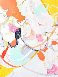 Abstract paintings by Britt Bass